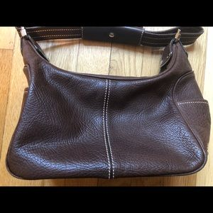 TOD's small leather shoulder bag purse pebbled